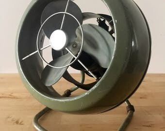 Vintage Industrial Fan // Working // Retro Home Decor
