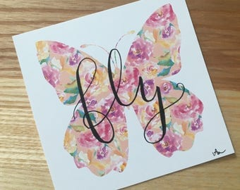Fly - Hand Lettered Drawing