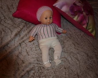 PANTS HAS FOOT - JACKET AND HAT DOLL 40 CM