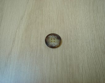 marbled taxim round Brown button