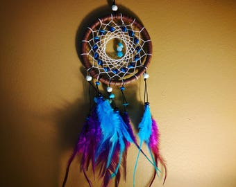 Brown, Blue, and Purple Dream Catcher