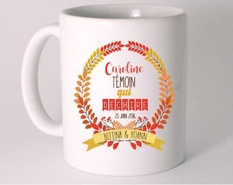Witness gift - autumn themed mug