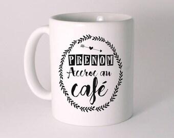 """Addicted to coffee"" custom ceramic MUG"