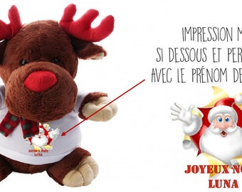 """PERSONALIZED plush deer """"Christmas special"""""""