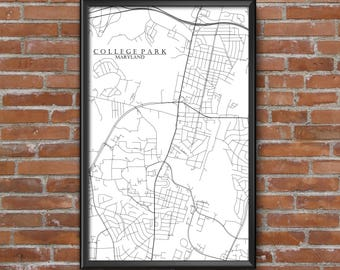 College park map Etsy