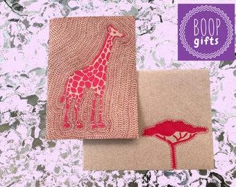Card w/envelope - Giraffe