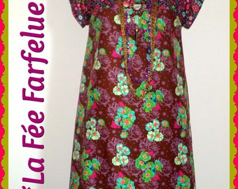 Dress light cotton BOHO from 34 to 50