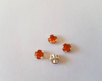 RHINESTONE COLOR INDIAN RED SET 5MM SEW OR GLUE
