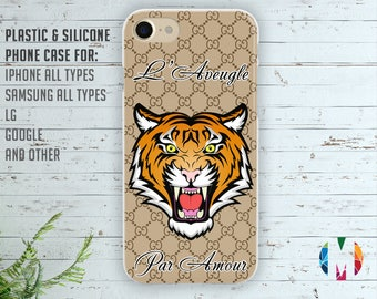 Gucci Tiger case L'Aveugle Par Amour Gucci Samsung S8 case Iphone 6s case Gucci Iphone 7 case Gucci plastic case Gucci Galaxy S7 edge case