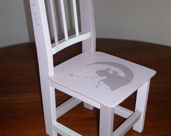 "SMALL chair ""clair de lune"""