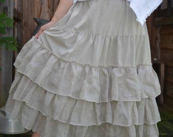 natural linen underskirt model Charlotte