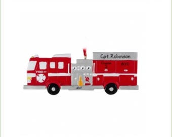Hook & Ladder Fire Truck Ornament
