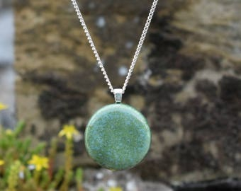 Moss Green Ceramic Necklace