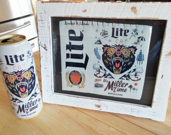 California Miller Lite Framed Beer Can