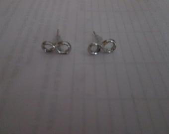 Earrings infinity silver