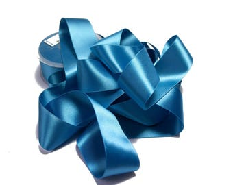 Turquoise Satin Ribbon Double sided 3.8 cm x 1 meter