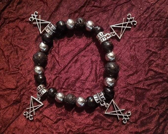 Lucifer Bracelet - luciferian sigil gothic occult beads