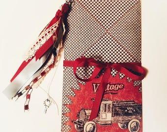 Vintage Truck Traveler's Notebook, Traveler's Insert, Junk Journal, Traveler's Journal, Handmade Planner, Handmade Diary, Insert, Journal