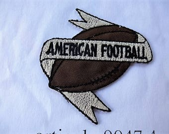 american football 9047.4 applique patch badge for customization sewing craft or sewing vintage