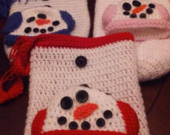 Christmas Snowman  Baby Cocoon and Hat