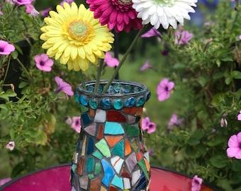 Brilliant Multicolored Mosaic Vase