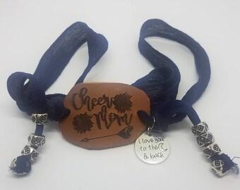 Cheer Mom wrap bracelet