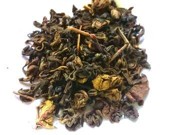 Luxury Gunpowder Style Green Tea with Mint | Loose Leaf Tea | Natural | Herbal | Tisane | Gift for Tea Lover |
