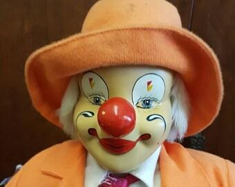 Large Vintage 50cm Clown Doll