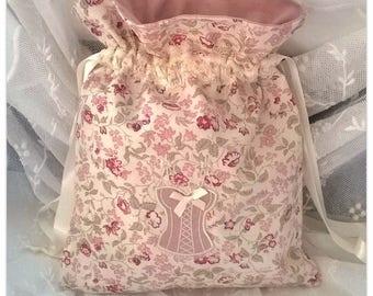 Angela pink lingerie bag