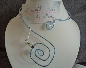 Caroline: Necklace 8 tile version square for an original necklace ideal for Valentines