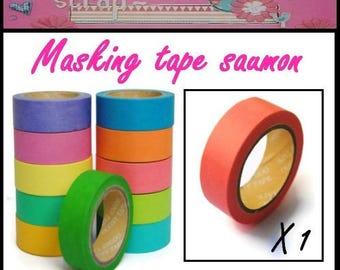 10 m masking sticker tape light pink slightly salmon embellishment scrapbooking