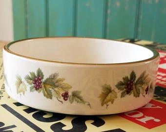 Vintage Gilded Prinknash Pottery Dish with Grapevine pattern