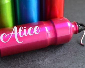 Stainless steel bottle customizable 75 cl - Zero waste - canister in stainless steel personalized with name - color choice