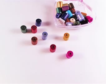 10 pearls magic miracle, trains(Forms) cylinder of many colors, acrylic beads