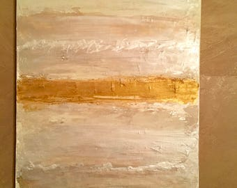 Gold & Champagne Abstract Canvas