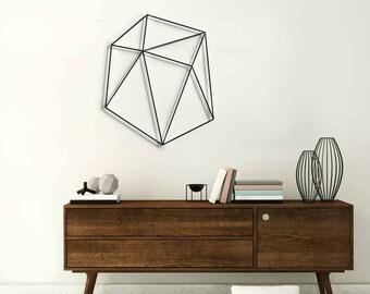 Geometric wall art, black wall decor, metal wall art,  wall decor living room, wall decor office, wall hanging, geometric ornament, glyphs