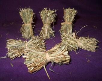 6 Fagots en foin naturel faits main, pour la décoration de votre crèche de Noël