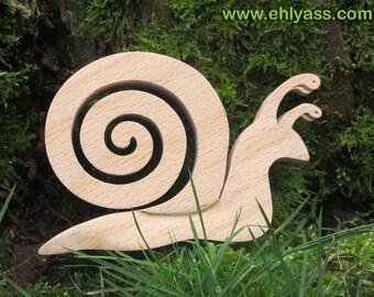 Wooden fretwork snail sculpture