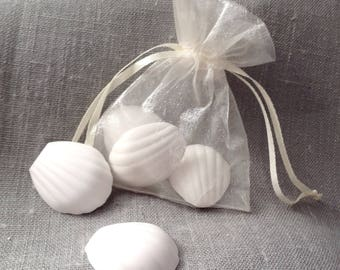 5 small Magdalen mold of plaster scented in an organza pouch