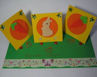 Easter Bunny, carrot card