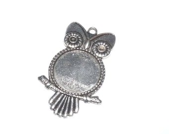 stand 6cm silver OWL ring 25mm