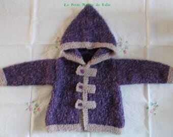 12 months purple Heather hooded jacket