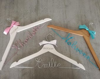 Adult set of three personalized hangers