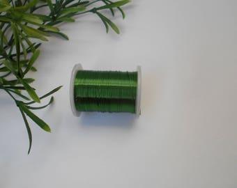 copper wire roll 0.30 mm - 10 m dark green