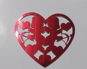 Valentine theme red embellishments