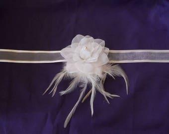 "No. 410) Ribbon white flower ""wedding procession"" set"