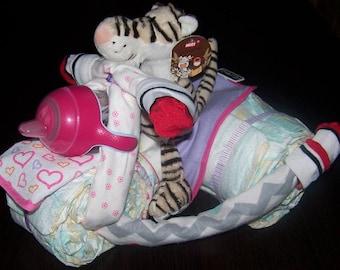 Diaper motorcycle Roadster 3 wheels, birthday gift baby girl Ruby blue Roadster 3 wheels