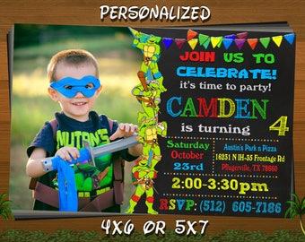 Tmnt invitation Etsy