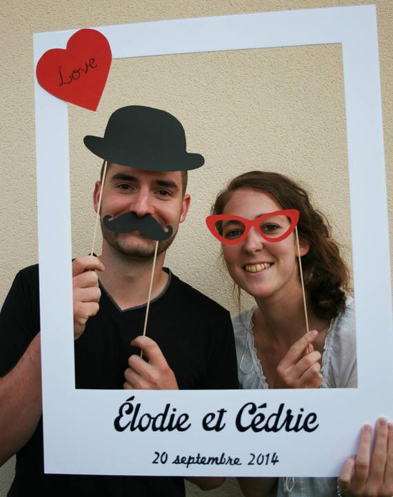 Photobooth frame for wedding - large format polaroid ...