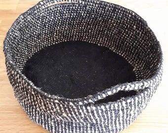 basket rope and crochet yarn